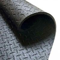 "8 x 4'x6' Solid Rubber FLOOR  Mat 3/8"" thick"