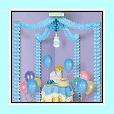 Baby Boy Blue  Decorating Kit for Baby Shower - Baby Shower Decoration Kit