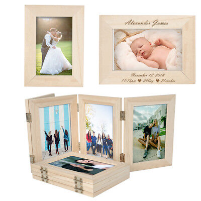 Personalised Engraved Unfinished Wood Photo Frame DIY Picture Love Memorial Gift Lovely Remembrance Gift
