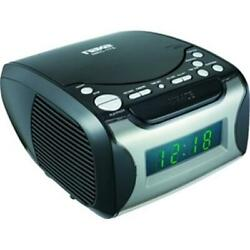 Naxa NRC-175 Digital Alarm Clock with Digital Tuning AM-FM Radio and CD Player