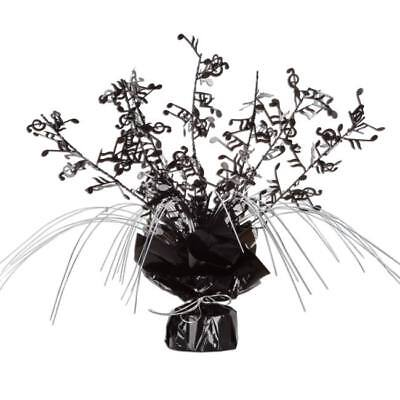 Musical Notes Gleam N Spray Centerpiece Black and Silver Music Note Decoration  - Music Note Decorations