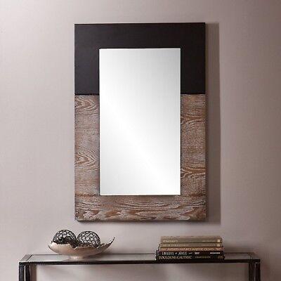 Large Wall Mirror Burnt Oak Black Modern Wood Decor Hanging Bathroom Framed Big for sale  USA