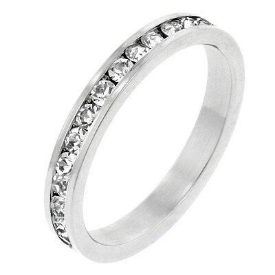 1.5 CT CZ CUBIC ZIRCONIA STACKABLE SET ETERNITY RING SIZE 5 6 7 8 9 -
