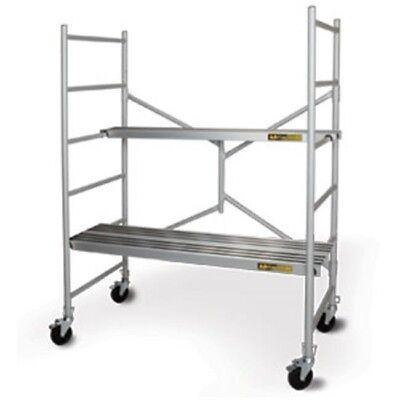 Metaltech I-cairc Folding 6 Ft. Aluminum Baker Style Utility Scaffold