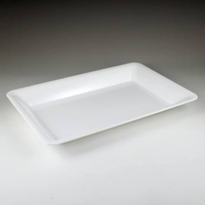 White Plastic Serving Tray 14