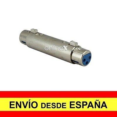 Adaptador Prolongador para Micrófono XLR 3 Pin Hembra a XLR 3 Pin...