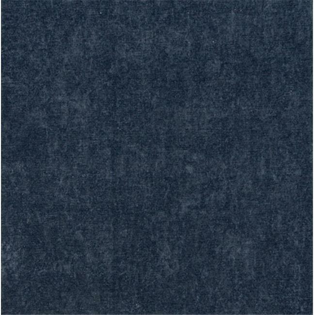 Designer Fabrics E154 54 in. Wide Dark Blue Smooth Polyester Velvet Upholster...