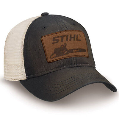Officially Licensed Stihl Washed Black Twill and Mesh Cap Twill Mesh Cap