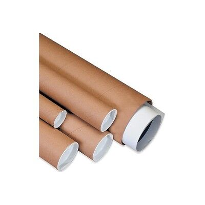 """Mailing Tubes with Caps, 3""""x30"""", Kraft, 24/Case"""