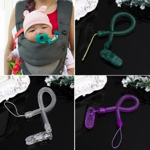 Baby Infant Toddler Spring Dummy Pacifier Soother Nipple Clip Holder Strap