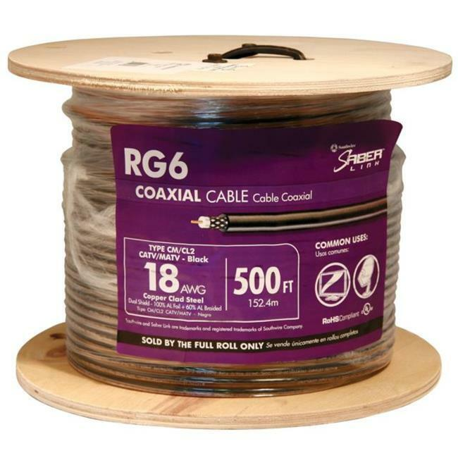 Southwire 56918245 500 ft. RG6 Coaxial Cable Black