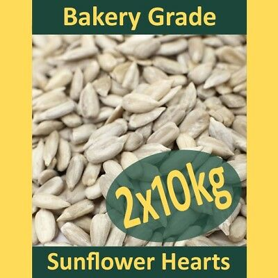 2x10kg (20kg) Sunflower Hearts Wild Bird Food PREMIUM BAKERY GRADE Dehulled