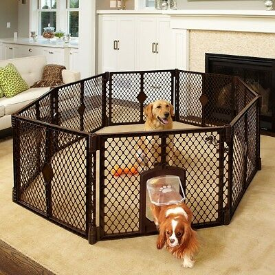 Large Puppy Pen Indoor Outdoor Portable Small Door 8 Panel Dog Exercise Safety