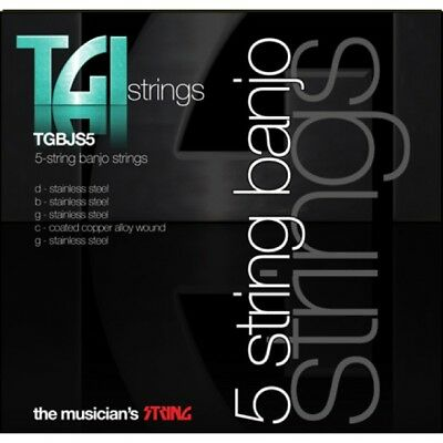 TGI 5 STRING BANJO STRINGS 5 STRING SET RRP 6.99 Black Friday Special