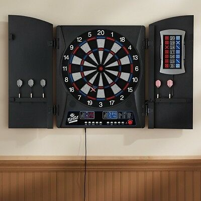 Electronic Dartboard Cabinet Set Scoreboard Darts Dart Board Game Machine Best
