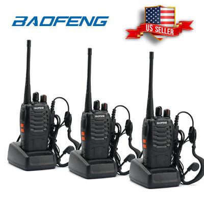 3x Baofeng BF-888S UHF Handheld Two-way Radio 5W HT Walkie Talkie Transceiver US