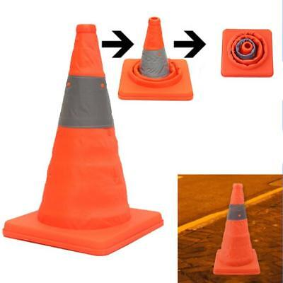 Folding Collapsible Traffic Multi Purpose Pop Up Reflective Safety Cone Orange