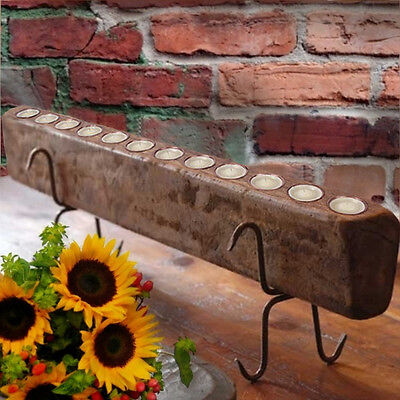 SUGAR MOLD Candle Holder w/CANDLES & STAND TUSCAN RUSTIC 12