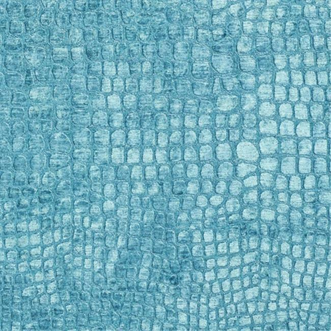 Designer Fabrics K0151M 54 in. Wide Aqua Turquoise Textured Alligator Shiny W...