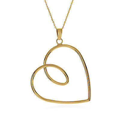10K Yellow Gold  Forever Love  Pendant With Chain   16