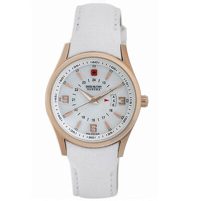 Swiss Military Hanowa 06-6155-09-001 Women's Navalus Quartz MOP Leather Watch