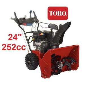 "OB TORO POWER MAX 824 SNOW BLOWER 37793 206931451 24"" GAS 2 STAGE ELECTRIC START OPEN BOX"