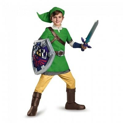 Baby Zelda Halloween Costume (Disguise Legend of Zelda Link Deluxe Game Child Boys Halloween Costume)