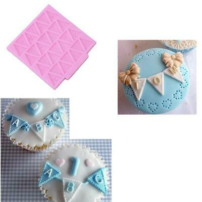 Letter Falg Fondant Mold Cake Decorating Chocolate Baking Mould BL3