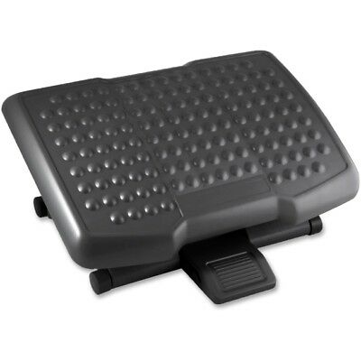 "Lorell Adjustable Height Footrest - Ergonomic Design - 6.50"" Adjustment - Black"
