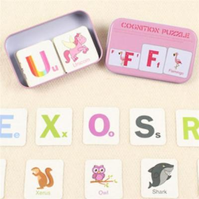Baby Educational Matching Cards Puzzles Game Preschool Educational Toy for Child (Puzzles For Preschoolers)