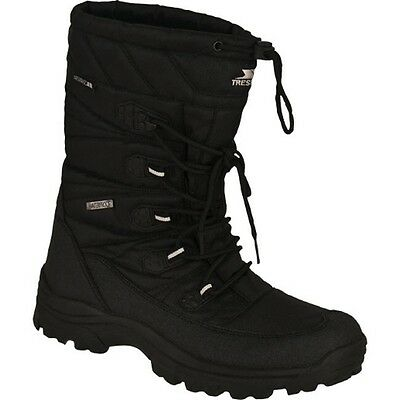 MENS TRESPASS THERMAL WINTER SKI SNOW BOOTS BLACK SIZES 6 7 NEW