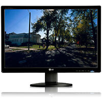 """Two 22"""" Widescreen LCD Computer Monitors - Needs Work"""