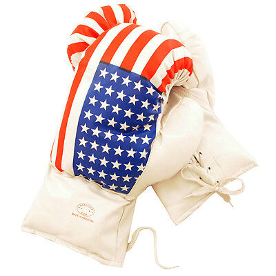 Flag Boxing Gloves - AGE 6-8 KIDS 6 OZ BOXING GLOVES YOUTH PRACTICE TRAINING MMA American USA Flag