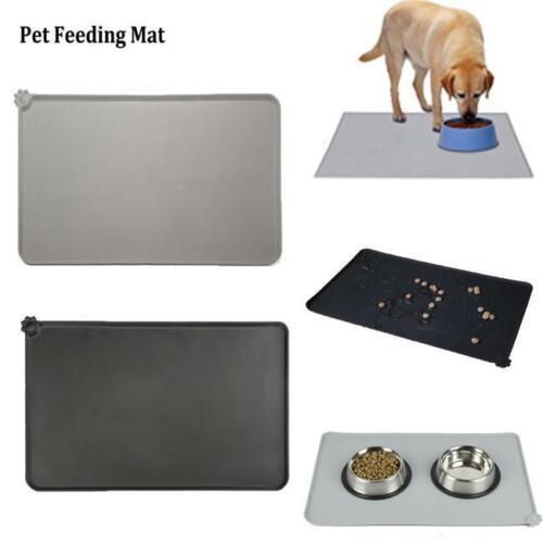 Large Square Dog Puppy Cat Placemat Pet Food Dish Bowl Feeding Mat Wipe Pad G