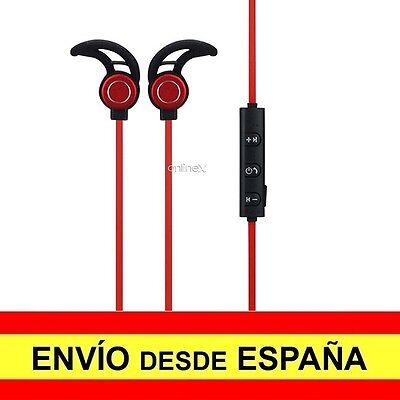 Auricular Inalámbrico AMW-810S Manos Libres Deportivos Color Negro-Rojo a2733