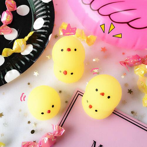 3Pcs Squishies amarillo pollo Exprimir Elástico descomprimir Phone Niños Juguete 6 A