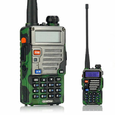 5x Baofeng UV-5R Plus Camouflage 2m//70cm Band VHF UHF Ham Handheld Two-Way Radio