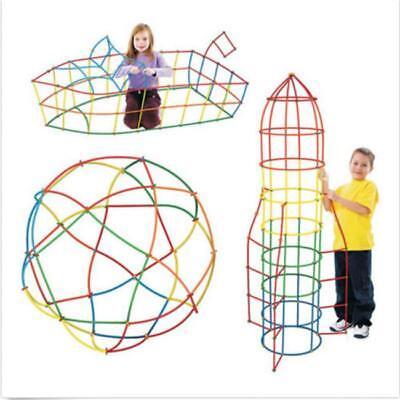 Interlocking Building Sets Toys Educational Straw Blocks For Boys Girls 6L