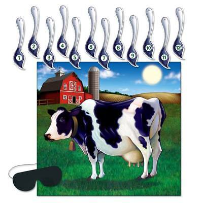 Pin the Tail on the Cow Game Farm Animal Cow Print Country Party Supplies - Pin The Tail On The Cow