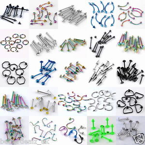 Stainless-Steel-Rivet-Hoop-Twist-Barbell-Ear-Ring-Stud-Body-Piercing-Wholesale