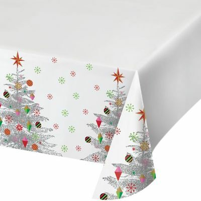 Bright Christmas Tree Plastic Banquet Tablecloth Winter Party Decoration - Christmas Plastic Tablecloths