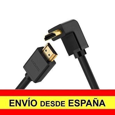 Cable HDMI Macho a HDMI Macho Codo 90 Grados Angulo Ultra HD...