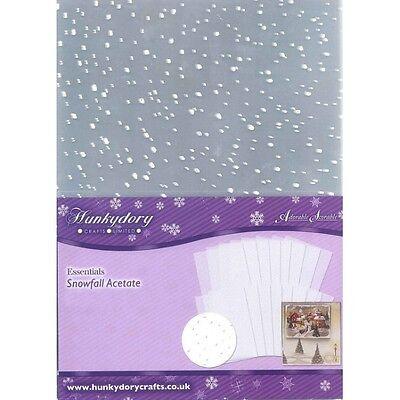 Hunkydory - Snowfall Acetate - 32 Sheet Pack