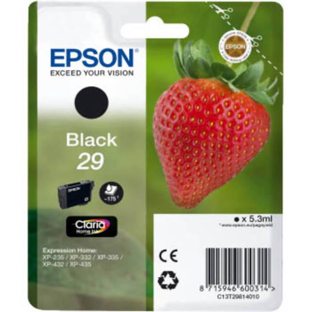 ORIGINAL EPSON 29 SERIES (STRAWBERRY) BLACK INK CARTRIDGE (C13T29814010 / T2981)
