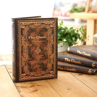 """Back in Time"" 1pc Journal Diary Hard Cover Classical Vintage Lined Notebook"
