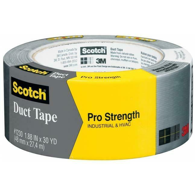 3M 1230-A 1.88  x 30 Yd (48.0 mm x 27.4 m) Scotch Pro Strength Duct Tape