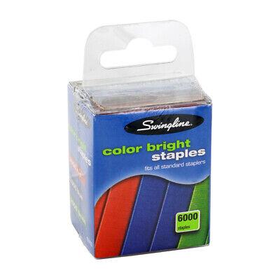 Swingline Color Bright Staples Multi-pack 6000 Staples Per Box Blueredgreen