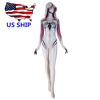 2018 Venom Spider Gwen Stacy Spandex Halloween Women Cosplay Tight Costume
