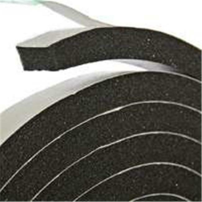 Thermwell Products R338H Black Rubber Foam Tape - 0.37 x 10 Ft.