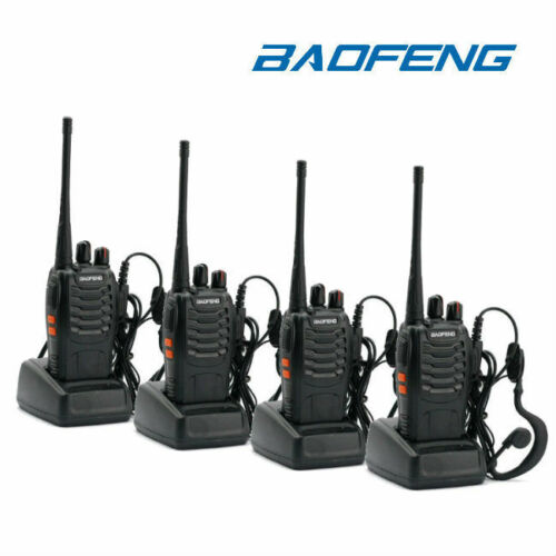 4Pk Baofeng BF-888S UHF Transceiver CTCSS Two-way Radio 16Channels Walkie Talkie